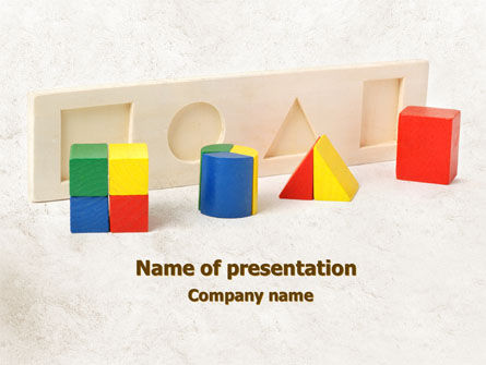 Education & Training: Fraction Toys PowerPoint Template #08178