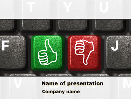 Computers: Good-Bad Evaluation PowerPoint Template #08180