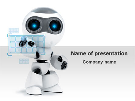 Robot Model PowerPoint Template, 08181, Technology and Science — PoweredTemplate.com