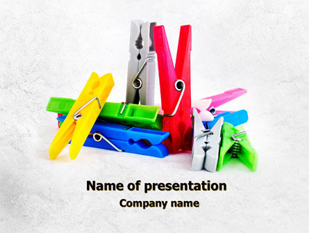 Business Concepts: Clothespin PowerPoint Template #08182