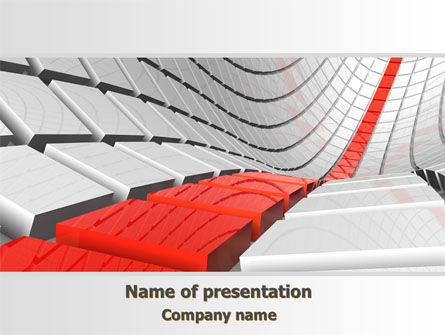 Keyboard Red Line PowerPoint Template, 08183, Business Concepts — PoweredTemplate.com