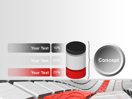 Keyboard Red Line PowerPoint Template Slide 11