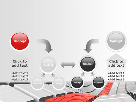 Keyboard Red Line PowerPoint Template Slide 19