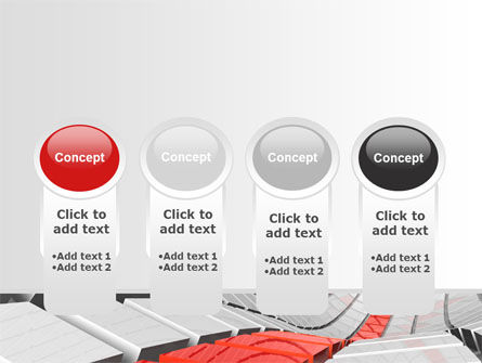 Keyboard Red Line PowerPoint Template Slide 5