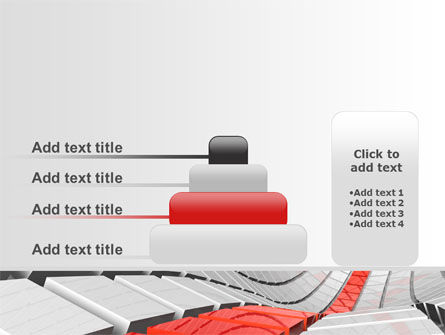 Keyboard Red Line PowerPoint Template Slide 8