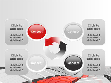 Keyboard Red Line PowerPoint Template Slide 9