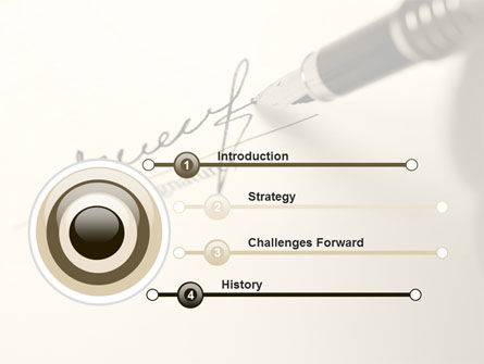 Signature In A Sepia PowerPoint Template Slide 3