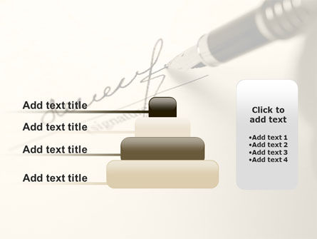 Signature In A Sepia PowerPoint Template Slide 8