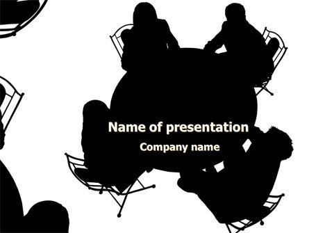 Discussion Table PowerPoint Template