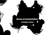 Education & Training: Discussion Table PowerPoint Template #08185