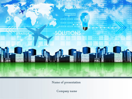 Trans International Services PowerPoint Template, 08187, Consulting — PoweredTemplate.com