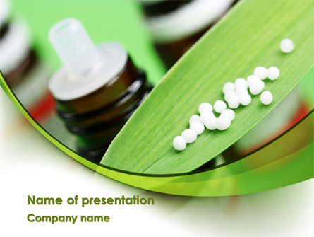 Medical: Homeopathic Remedy PowerPoint Template #08188