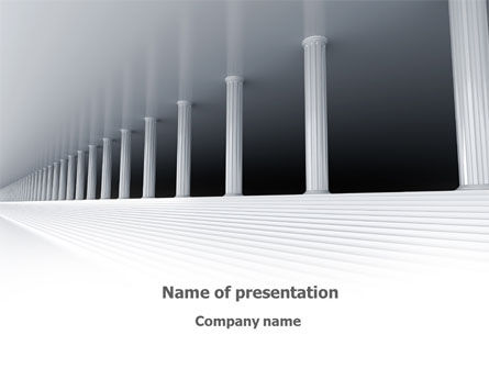 3D Colonnade PowerPoint Template, 08189, Construction — PoweredTemplate.com