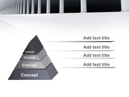 3D Colonnade PowerPoint Template Slide 12