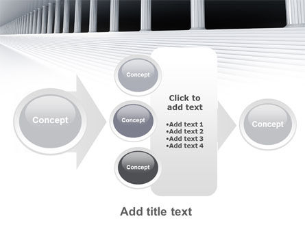3D Colonnade PowerPoint Template Slide 17