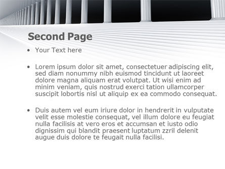 3D Colonnade PowerPoint Template Slide 2