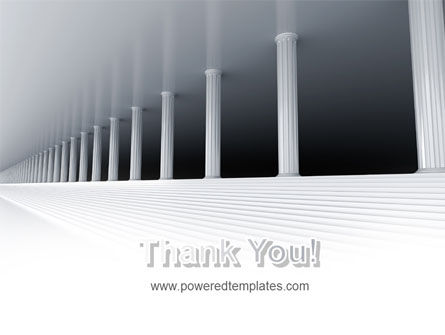 3D Colonnade PowerPoint Template Slide 20
