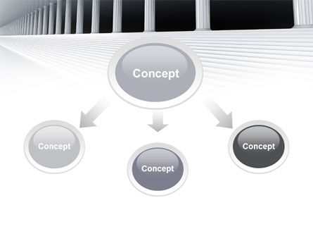 3D Colonnade PowerPoint Template Slide 4
