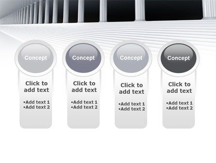 3D Colonnade PowerPoint Template Slide 5
