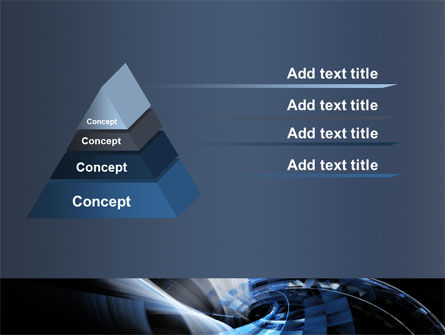 Dark Abstract Spiral PowerPoint Template Slide 12