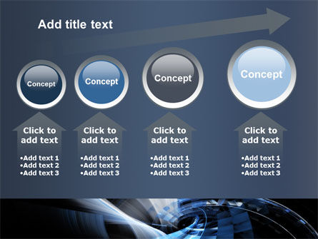 Dark Abstract Spiral PowerPoint Template Slide 13