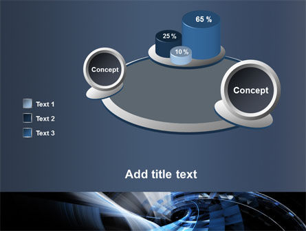 Dark Abstract Spiral PowerPoint Template Slide 16