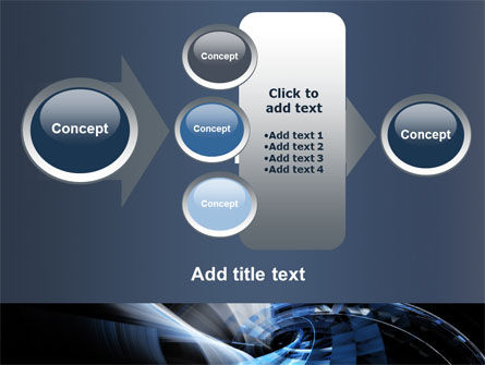 Dark Abstract Spiral PowerPoint Template Slide 17