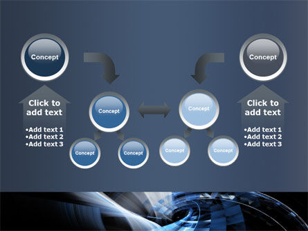 Dark Abstract Spiral PowerPoint Template Slide 19