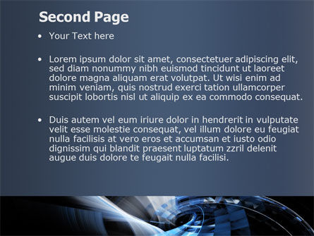 Dark Abstract Spiral PowerPoint Template, Slide 2, 08190, Abstract/Textures — PoweredTemplate.com