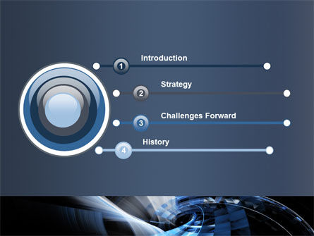 Dark Abstract Spiral PowerPoint Template, Slide 3, 08190, Abstract/Textures — PoweredTemplate.com