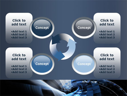 Dark Abstract Spiral PowerPoint Template Slide 9