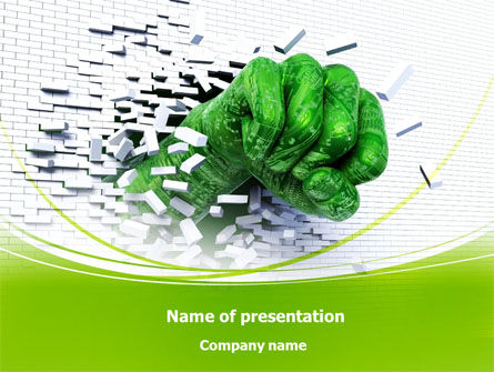 Technological Breakthrough PowerPoint Template, 08191, Technology and Science — PoweredTemplate.com