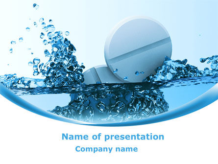 Tablets In Water PowerPoint Template, 08192, Medical — PoweredTemplate.com