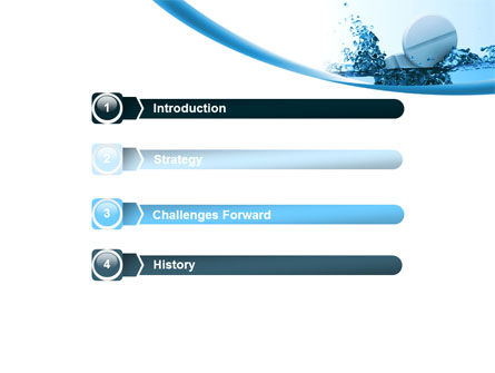 Tablets In Water PowerPoint Template, Slide 3, 08192, Medical — PoweredTemplate.com