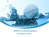 Medical: Tablets In Water PowerPoint Template #08192