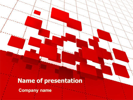 Surface Fragments PowerPoint Template, 08193, Business — PoweredTemplate.com