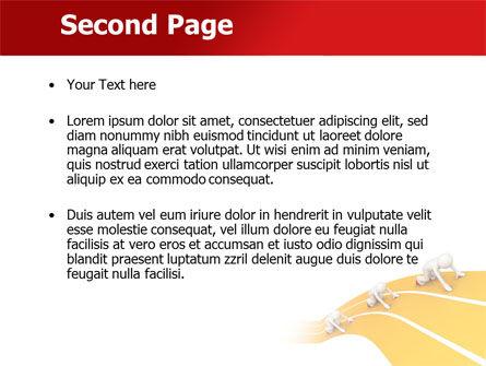 Sprint Runners PowerPoint Template, Slide 2, 08194, Education & Training — PoweredTemplate.com