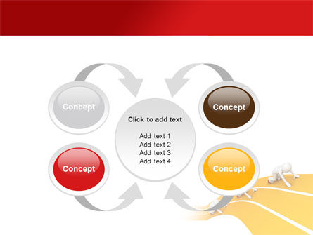 Sprint Runners PowerPoint Template Slide 6