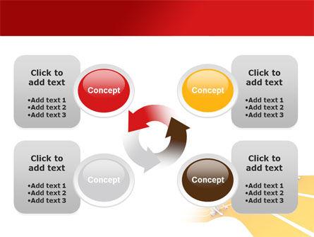 Sprint Runners PowerPoint Template Slide 9