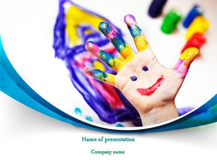 Funny Hand PowerPoint Template, 08196, Education & Training — PoweredTemplate.com