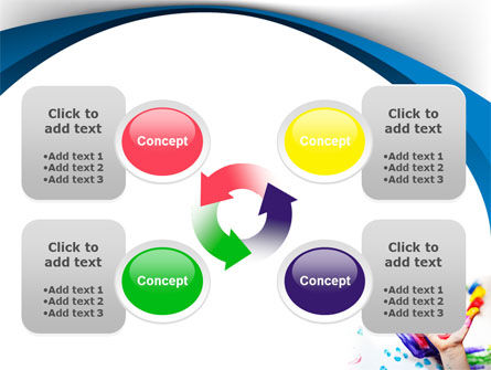 Funny Hand PowerPoint Template Slide 9