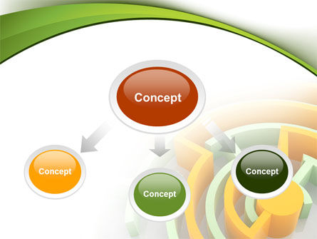 Labyrinth Solution PowerPoint Template, Slide 4, 08197, Consulting — PoweredTemplate.com