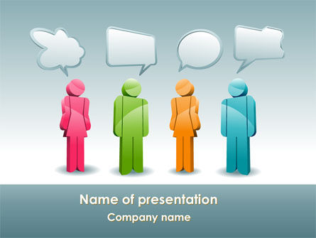 Telecommunication: Speech Bubbles PowerPoint Template #08198