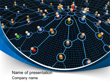 Network Community PowerPoint Template, 08199, Technology and Science — PoweredTemplate.com