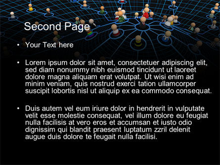 Network Community PowerPoint Template, Slide 2, 08199, Technology and Science — PoweredTemplate.com