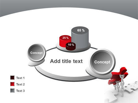 Jigsaw Lifting PowerPoint Template Slide 16