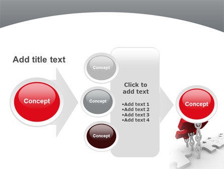 Jigsaw Lifting PowerPoint Template Slide 17