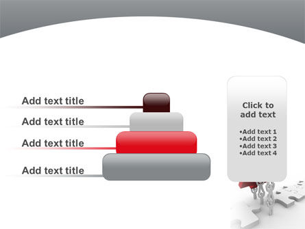 Jigsaw Lifting PowerPoint Template Slide 8