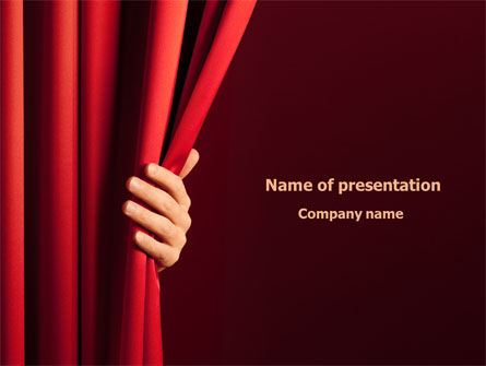 Art & Entertainment: Red Curtain PowerPoint Template #08202