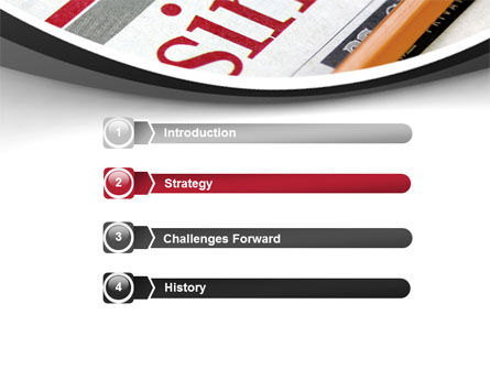 Business Newspaper PowerPoint Template, Slide 3, 08203, Business — PoweredTemplate.com